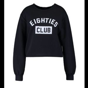 Boohoo Sweaters - ❤️Boohoo+: Plus Jess 80's Slogan Sweat